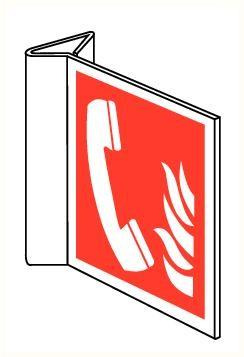 Bordje Noodtelefoon haaks