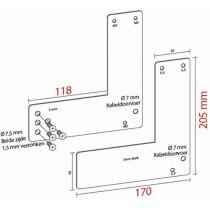 Montageplaat voor Glasdeur 20,5 cm Exit Control