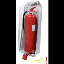 Brandblusser Beschermkast Transparant-Grijs 9/12kg