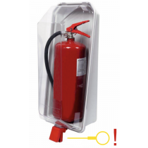Brandblusser Beschermkast Transparant-Grijs 6kg