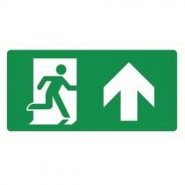 Bordje Uitgang omhoog / rechtdoor