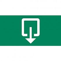 pictogram p1 iso uitgang rechtdoor