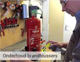 Onderhoud brandblussers